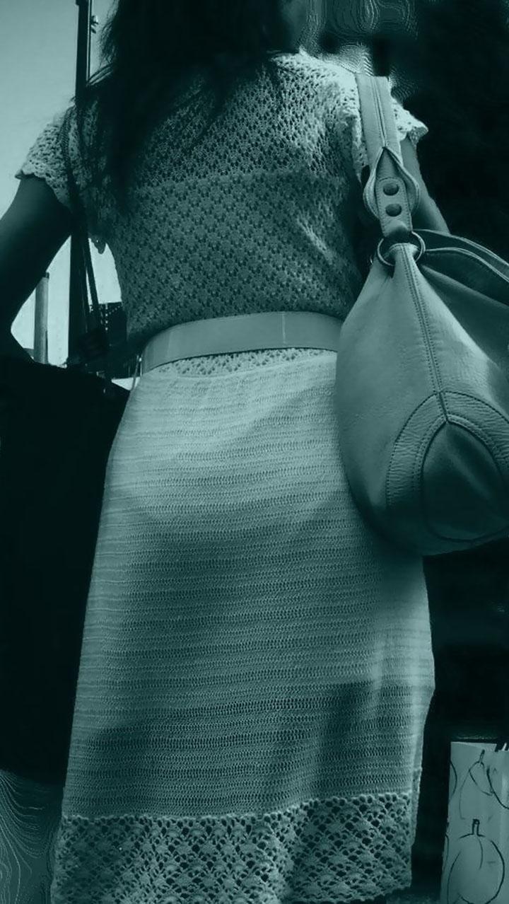 赤外線だと簡単に女性のパンツが透けちゃう!