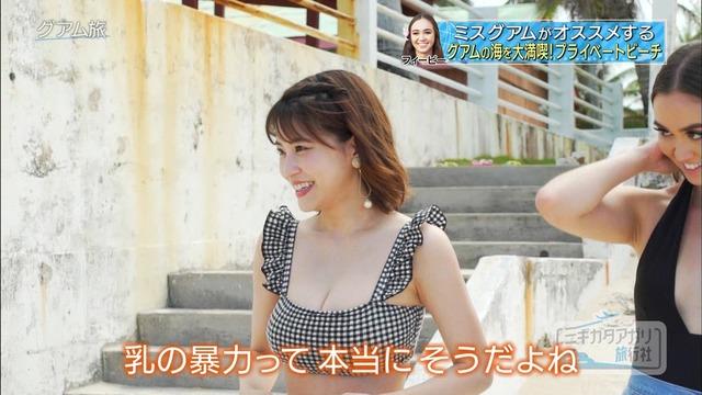 岸明日香_巨乳_水着_テレビキャプ画像_04