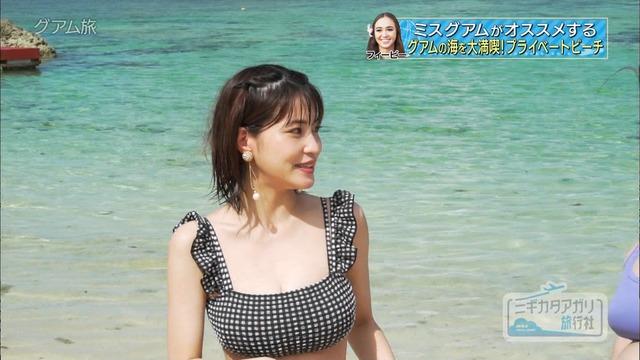 岸明日香_巨乳_水着_テレビキャプ画像_16