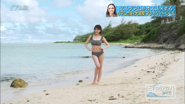 岸明日香_巨乳_水着_テレビキャプ画像_28