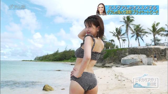 岸明日香_巨乳_水着_テレビキャプ画像_33