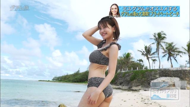 岸明日香_巨乳_水着_テレビキャプ画像_34