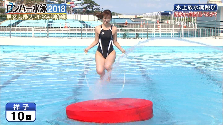 ロンハー水泳_グラドル_水着_テレビキャプ画像_58