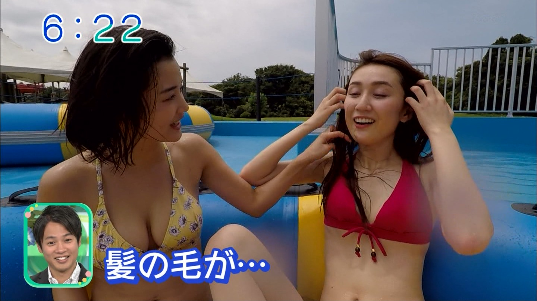 出口亜梨沙_巨乳_ビキニ_テレビキャプ画像_16