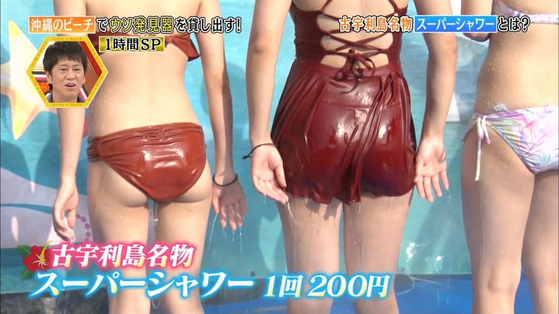 沖縄ビーチ_ビキニ水着_素人巨乳_テレビキャプ画像_31