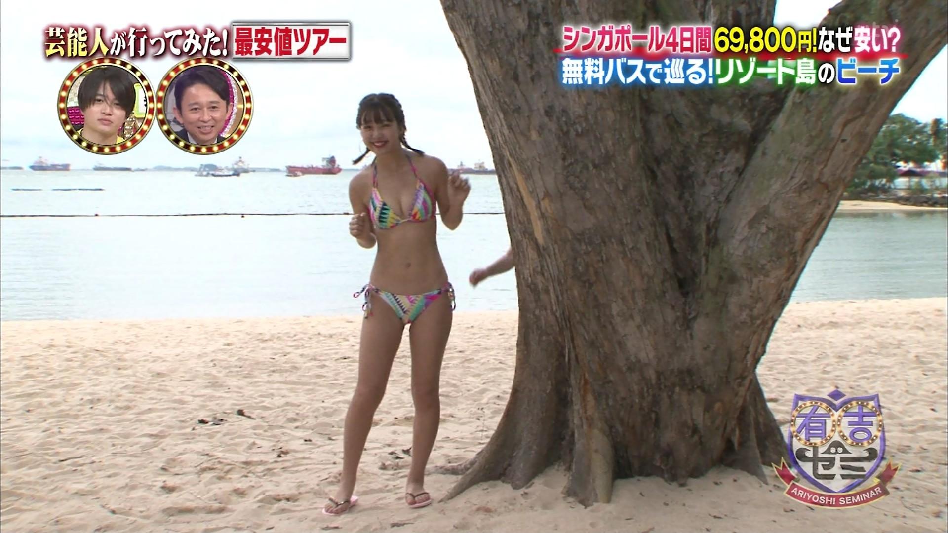 藤田ニコル_モデル_ビキニ水着_テレビキャプ画像_09
