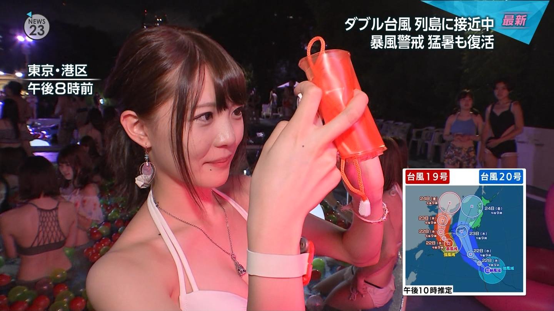 ナイトプール_素人ギャル_ビキニ_テレビキャプ画像_01