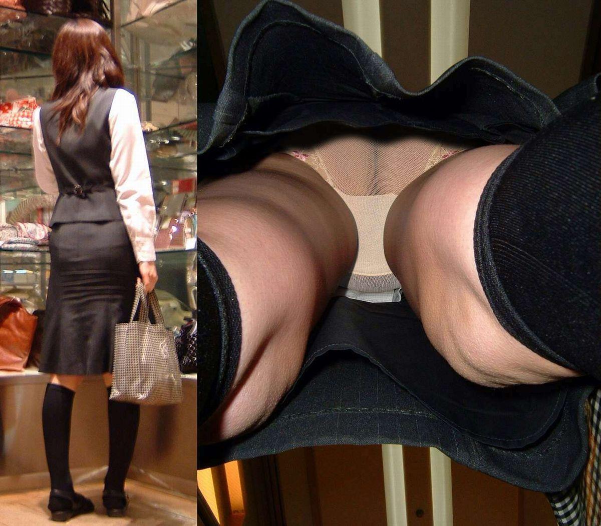 仕事終わりに買い物してるOLを狙って隠し撮り!