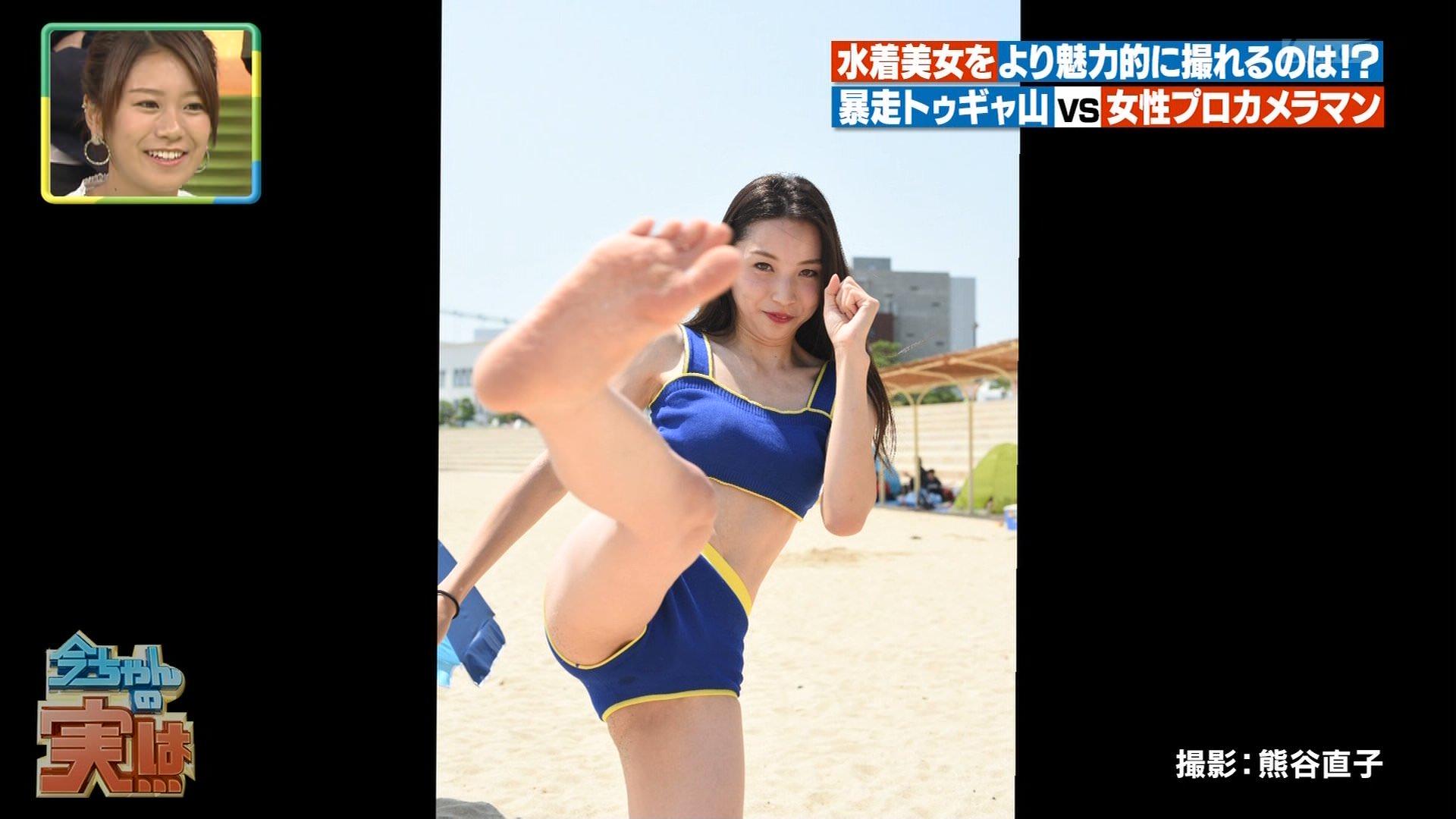 ビーチ_ビキニ水着_股間_素人_テレビキャプ画像_33