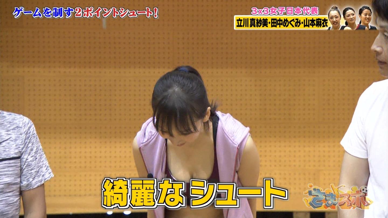 華村あすか_スポブラ_谷間_テレビキャプ画像_09