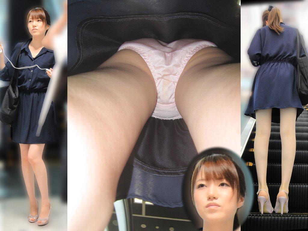 綺麗なお姉さんのスカートの中身を執念で盗撮!