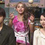 【画像あり】『踊る!さんま御殿!!』ゆきぽよこと木村有希(21)が前回同様に派手なミニスカ姿でパンチラしていた件www