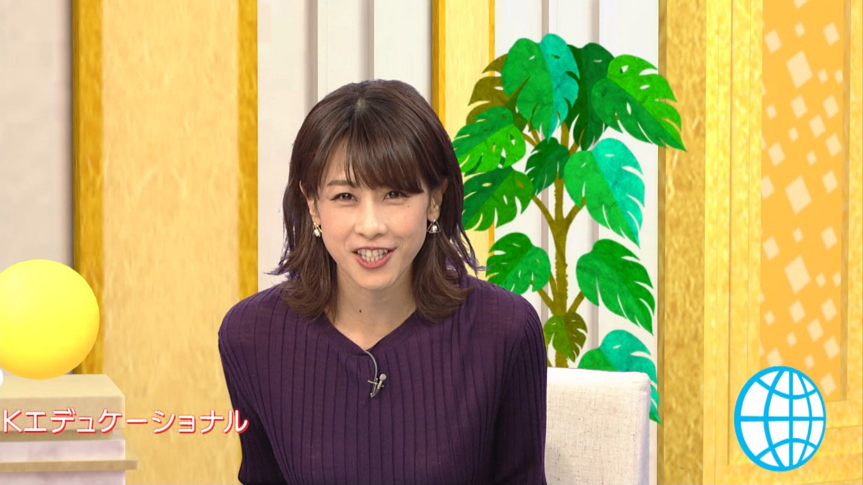 加藤綾子_女子アナ_ニット着衣巨乳_テレビキャプ画像_19