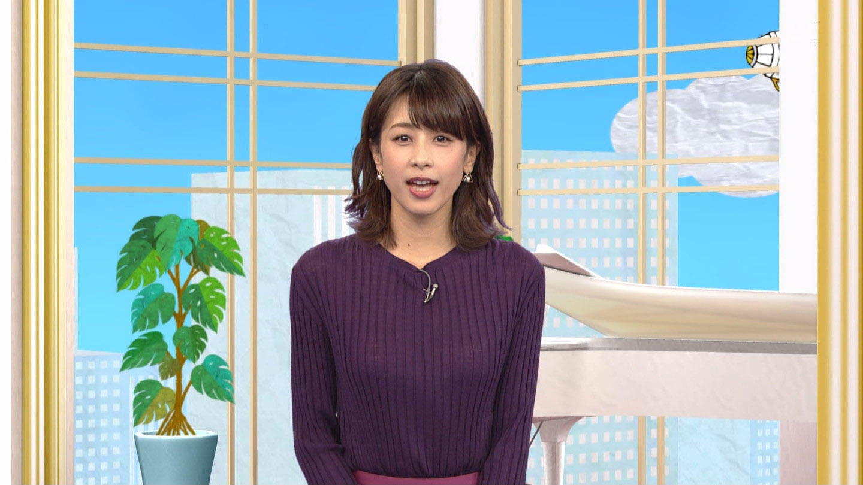 加藤綾子_女子アナ_ニット着衣巨乳_テレビキャプ画像_20