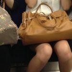 【電車内盗撮エロ画像】生足素人さんの美脚を見すぎて乗り過ごしに注意しなあかんwww