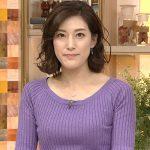 【女子アナキャプエロ画像】『ニュースウオッチ9』上原光紀(27)の紫ニットに巨乳が強調されて色気がヤバイ!