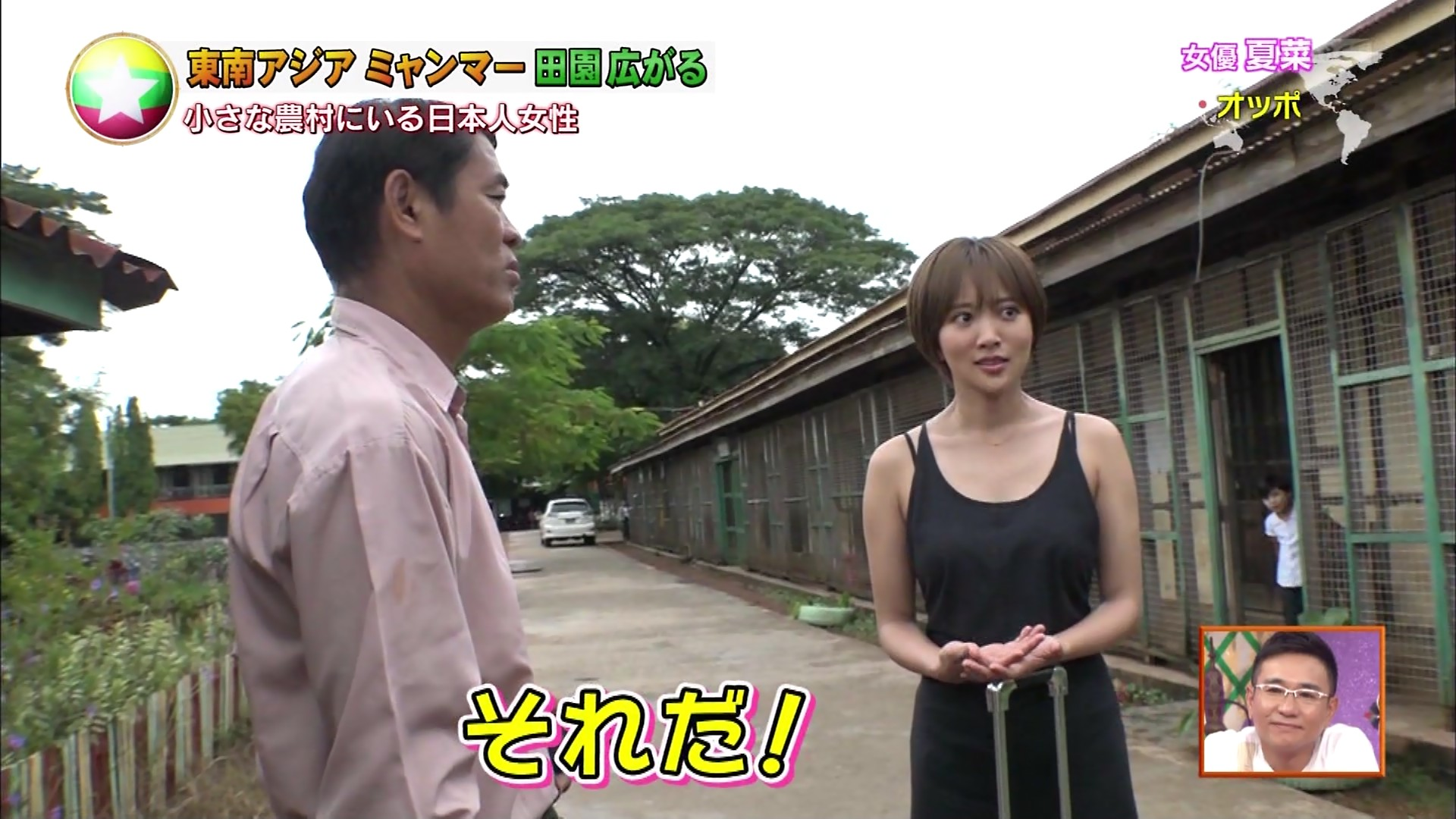 夏菜_着衣巨乳_ノースリーブ_テレビキャプ画像_12