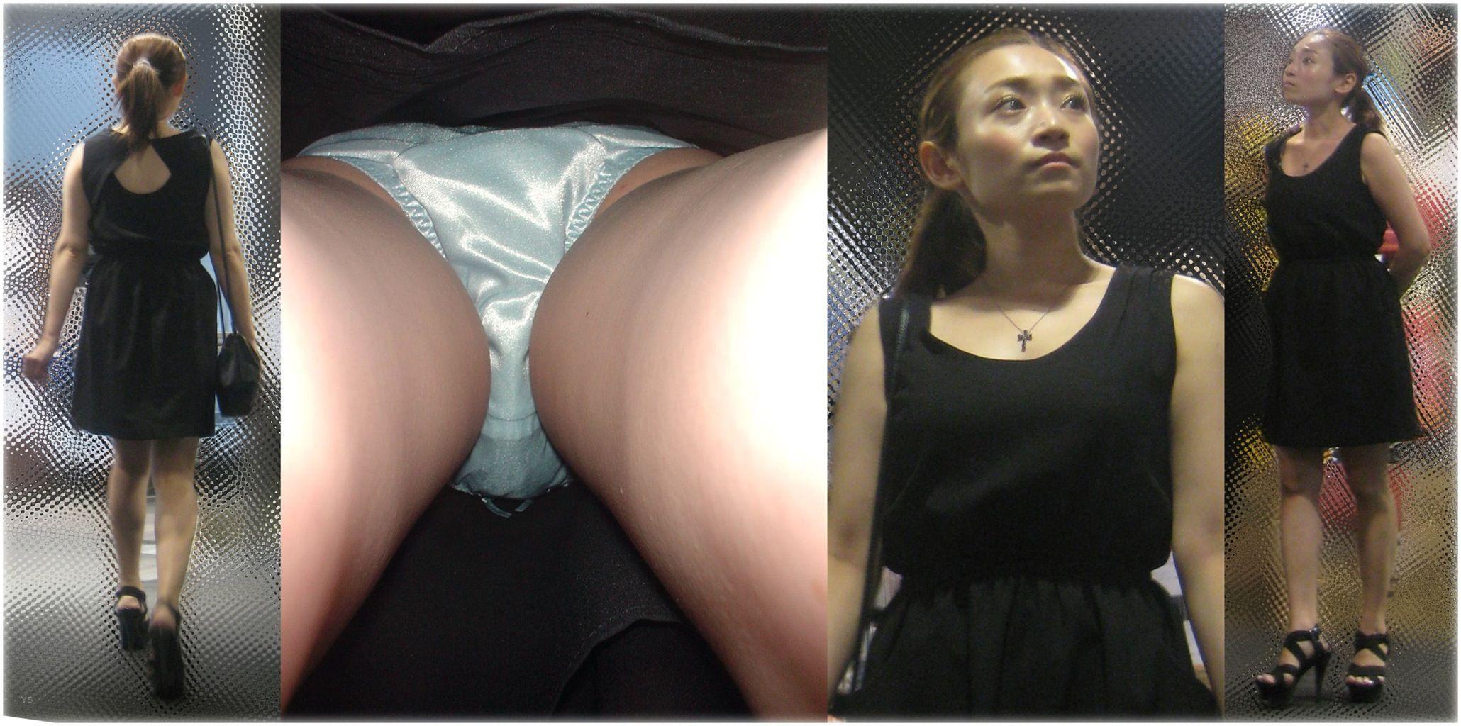 セクシー美女のサテン系パンツがイヤらしい!