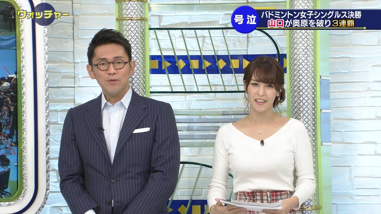 鷲見玲奈_女子アナ_ニットおっぱい_テレビキャプ画像_03