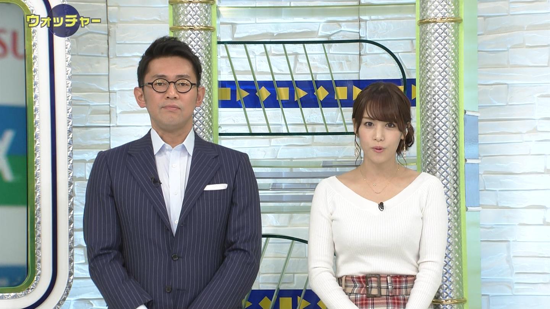 鷲見玲奈_女子アナ_ニットおっぱい_テレビキャプ画像_04