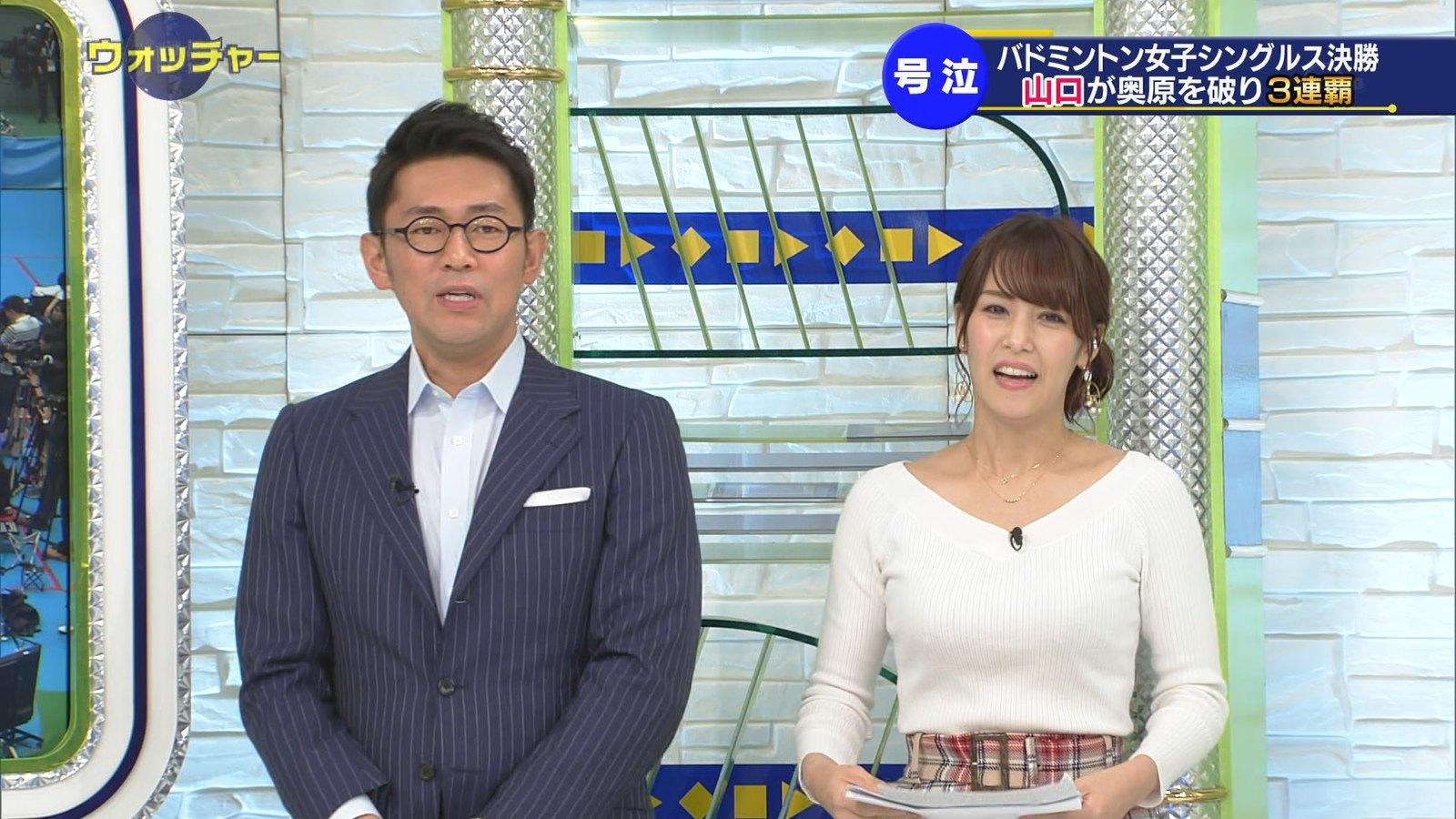 鷲見玲奈_女子アナ_ニットおっぱい_テレビキャプ画像_08
