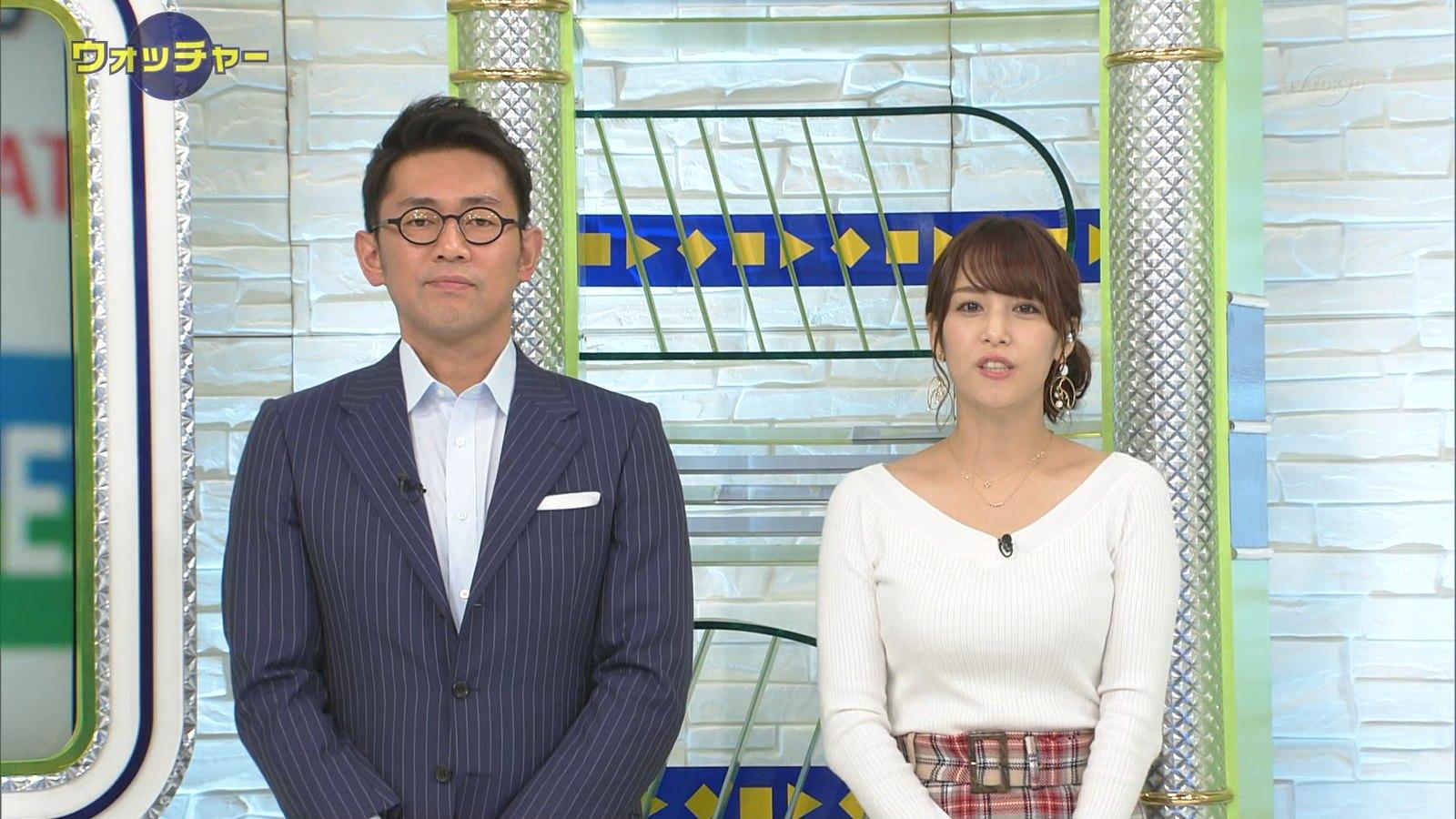 鷲見玲奈_女子アナ_ニットおっぱい_テレビキャプ画像_09
