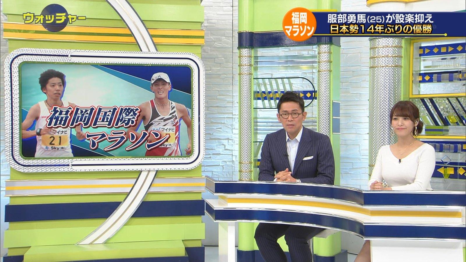 鷲見玲奈_女子アナ_ニットおっぱい_テレビキャプ画像_16