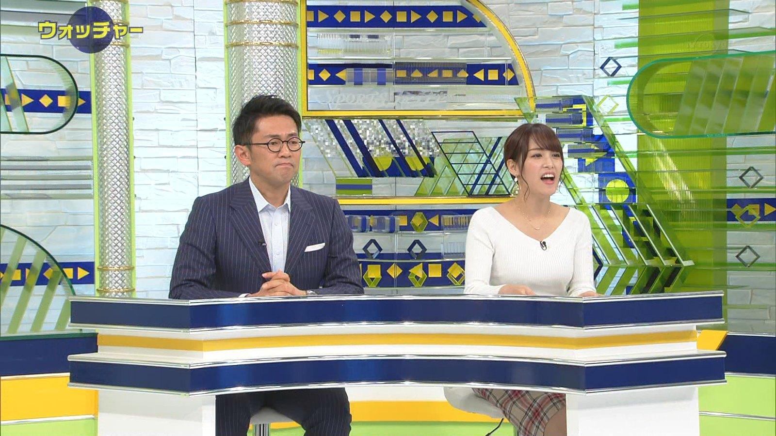 鷲見玲奈_女子アナ_ニットおっぱい_テレビキャプ画像_19