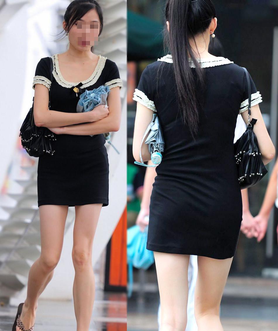 生足が素敵すぎる清楚な美女の下半身を見る!