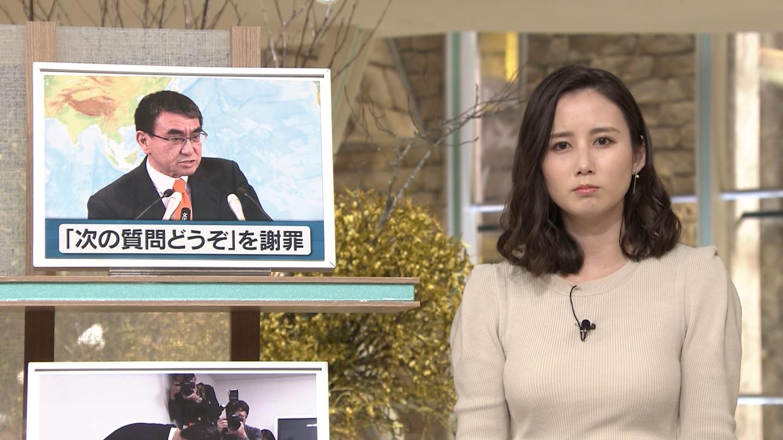 森川夕貴_女子アナ_ニット巨乳_報道ステーション_10