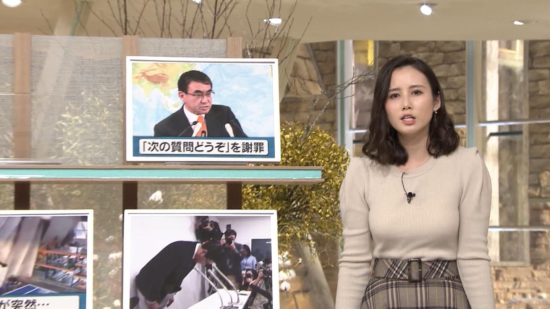森川夕貴_女子アナ_ニット巨乳_報道ステーション_11