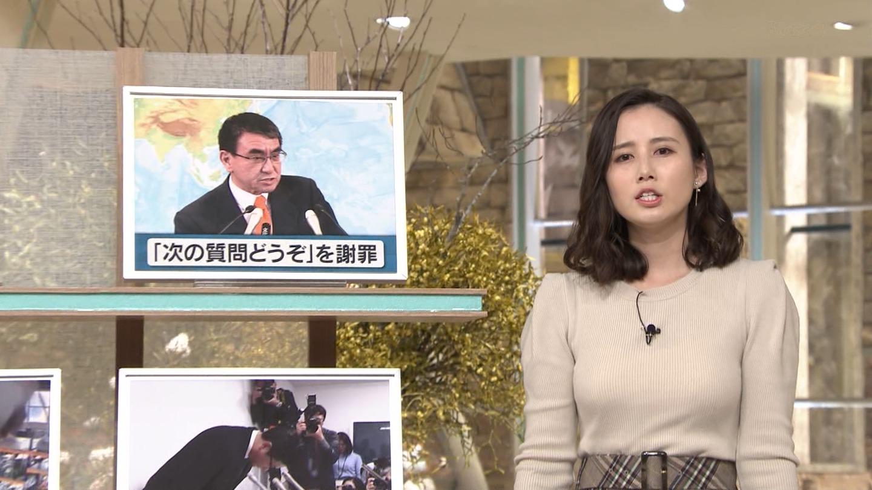 森川夕貴_女子アナ_ニット巨乳_報道ステーション_12