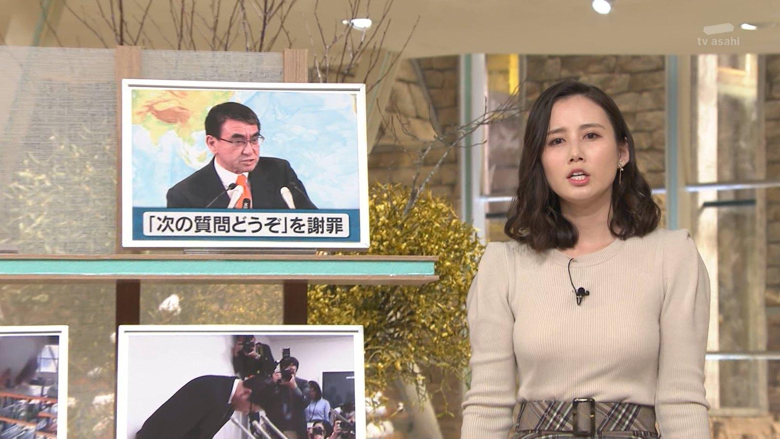 森川夕貴_女子アナ_ニット巨乳_報道ステーション_15