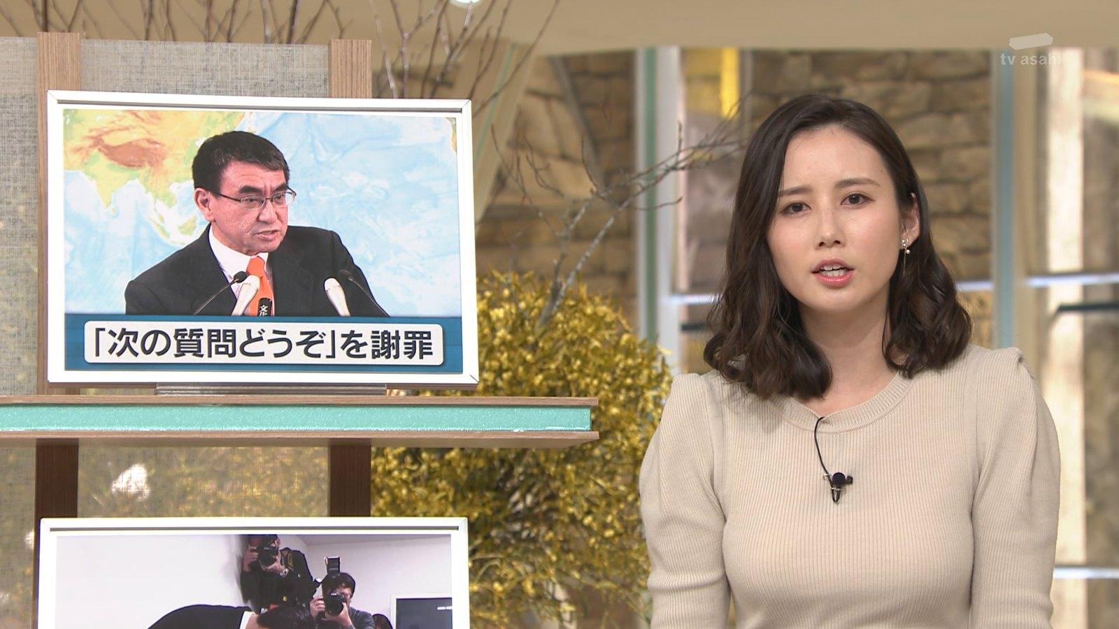 森川夕貴_女子アナ_ニット巨乳_報道ステーション_17