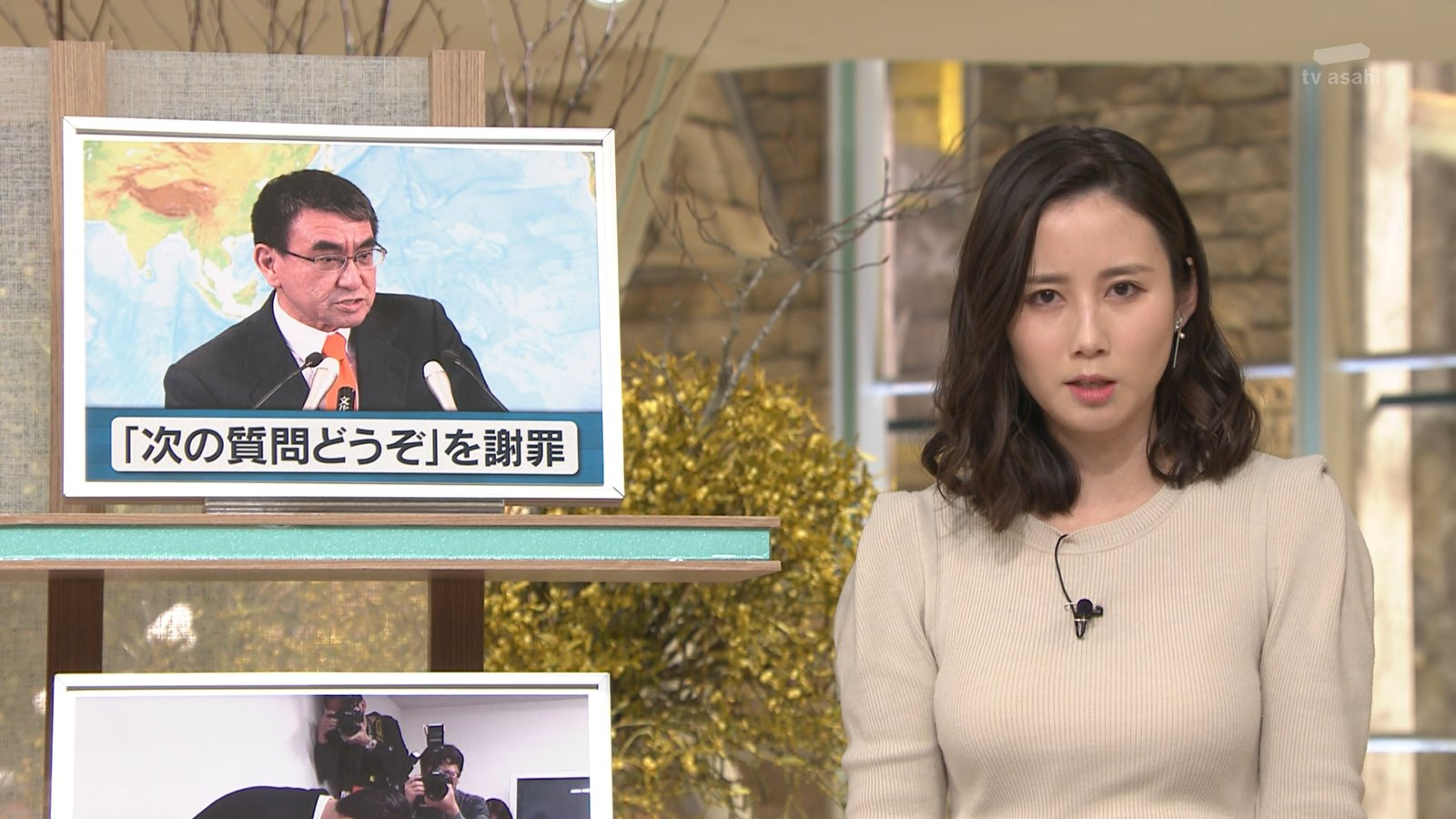 森川夕貴_女子アナ_ニット巨乳_報道ステーション_18
