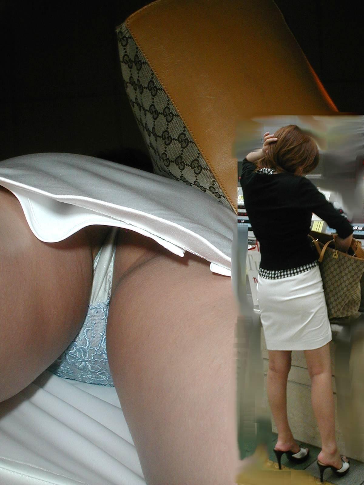 細く綺麗な美脚の素人女性のパンツがイヤらしい!