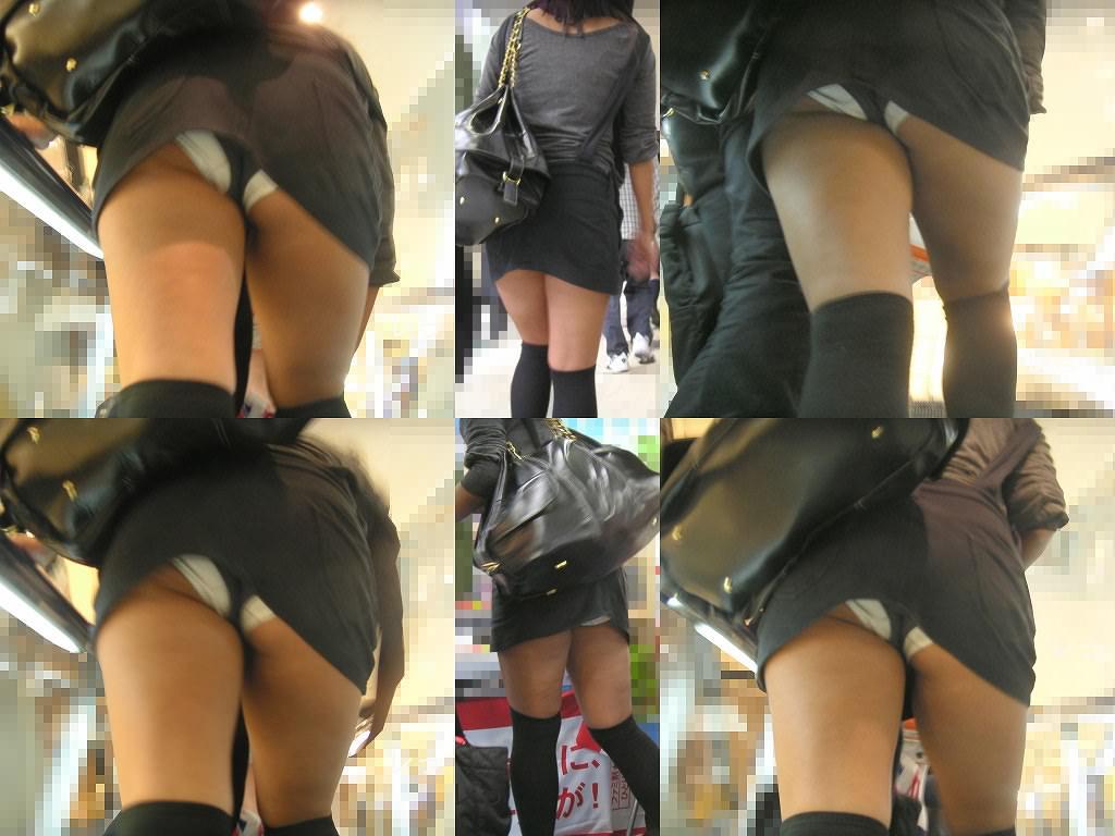 極上美人のスカート内部を真下から撮影したった!