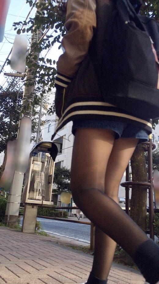 美脚素人が黒パンスト履いてるだけでエロい!