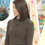 【女子アナキャプエロ画像】『めざましテレビ』永島優美(27)のニット姿で強調された胸に視線は釘付け!