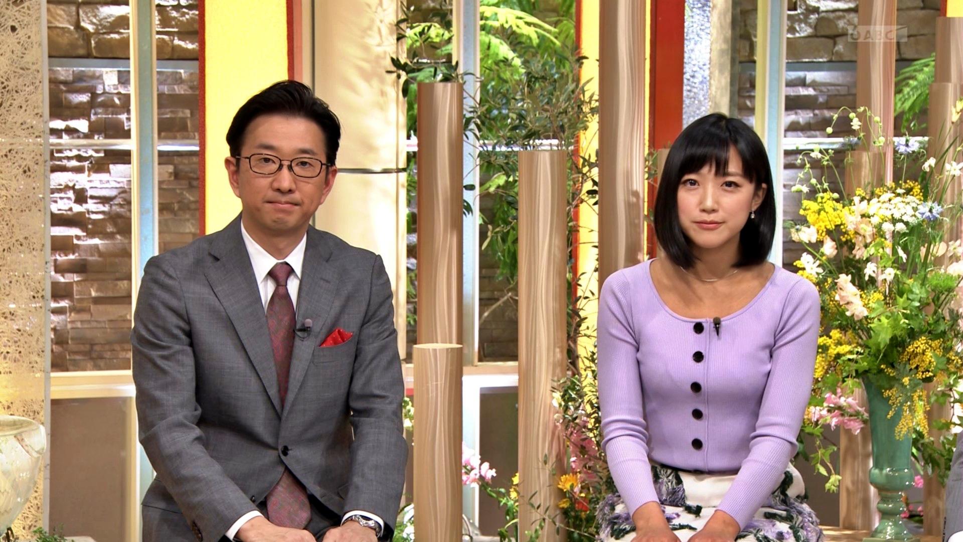 竹内由恵_おっぱい_ニット_報道ステーション_10