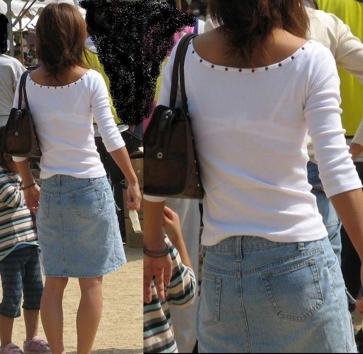 街中で下着が透けてるお姉さんを見つけ盗撮!