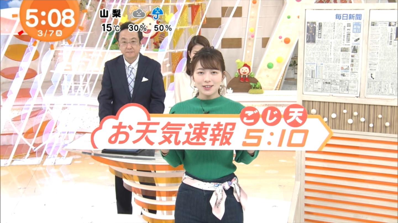 阿部華也子_キャスター_着衣巨乳_めざましテレビ_03