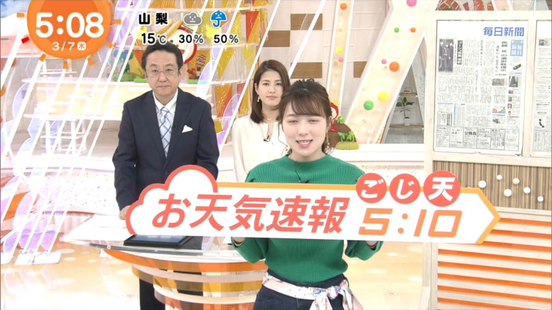 阿部華也子_キャスター_着衣巨乳_めざましテレビ_04