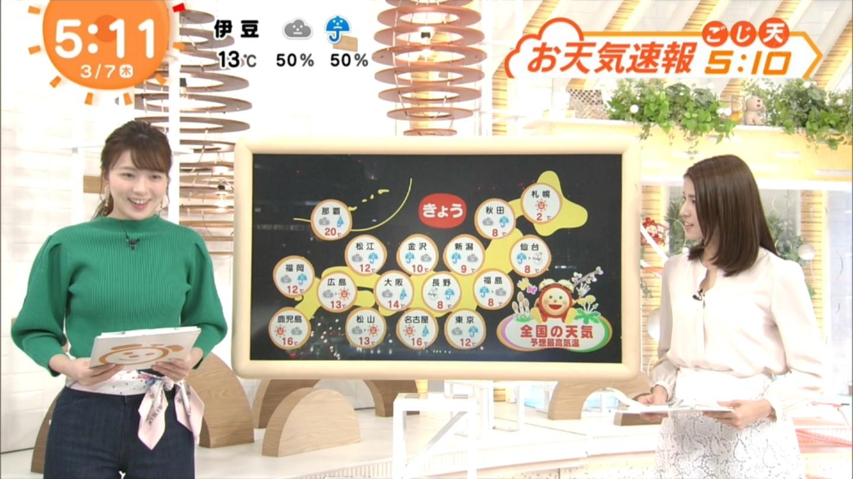 阿部華也子_キャスター_着衣巨乳_めざましテレビ_15