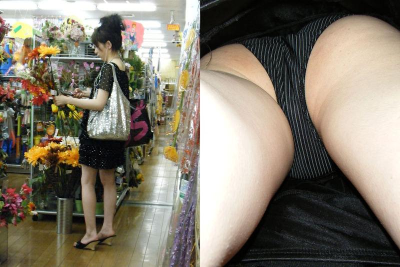 素人女性の縦縞パンティーがセクシーだな!