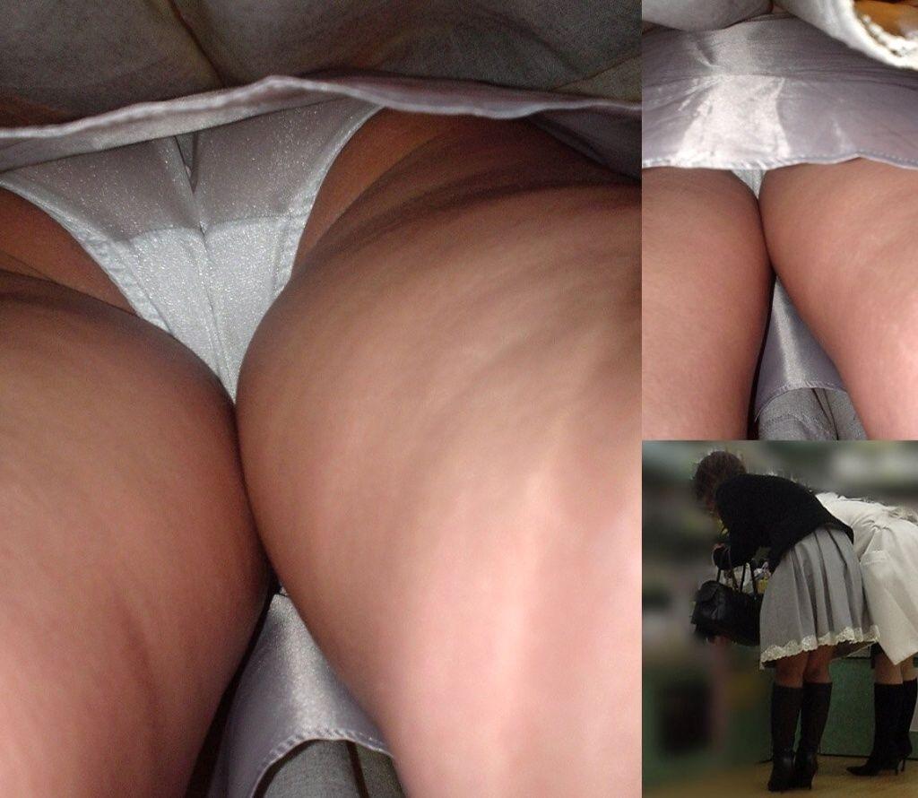 スカート内のパンツとお尻と太ももがいやらしい!