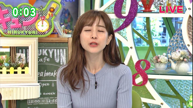 田中みな実_女子アナ_ニット巨乳_ひるキュン_07