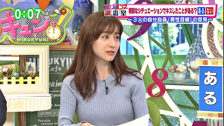 田中みな実_女子アナ_ニット巨乳_ひるキュン_13