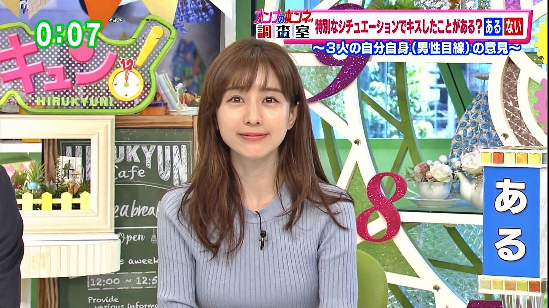 田中みな実_女子アナ_ニット巨乳_ひるキュン_14