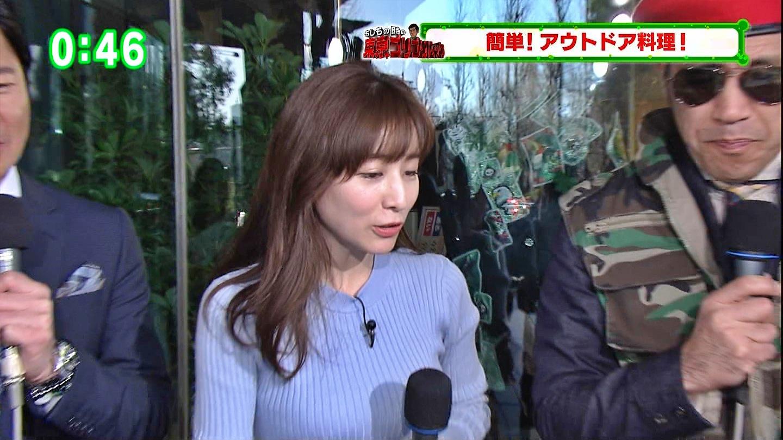 田中みな実_女子アナ_ニット巨乳_ひるキュン_34